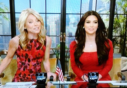 Kim Kardashian Guest Hosts With Kelly Ripa!