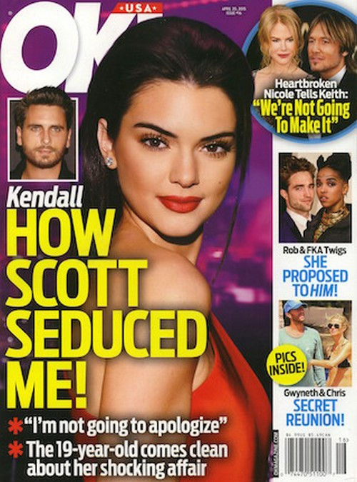 Scott Disick Cheating On Kourtney Kardashian With Kendall Jenner