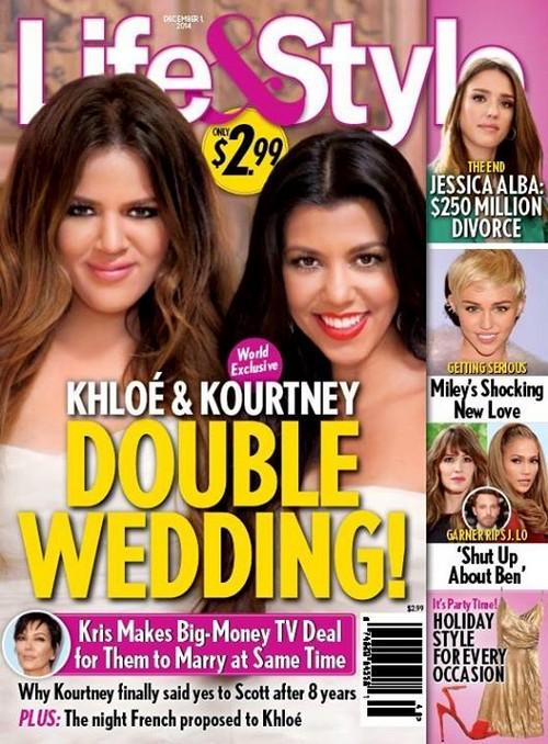 Khloe and Kourtney Kardashian Double Wedding To French Montana and Scott Disick? (PHOTO)