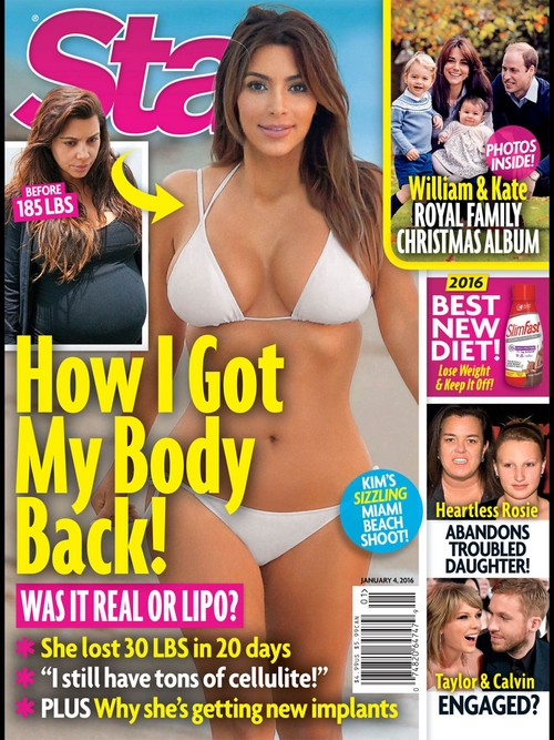 Kim Kardashian Risking Health To Lose Saint West Baby Weight: Tummy Tuck and Liposuction, Starvation Diet?