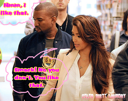 Kim KarTRASHian Overpowers Kanye West -- She's Boss!