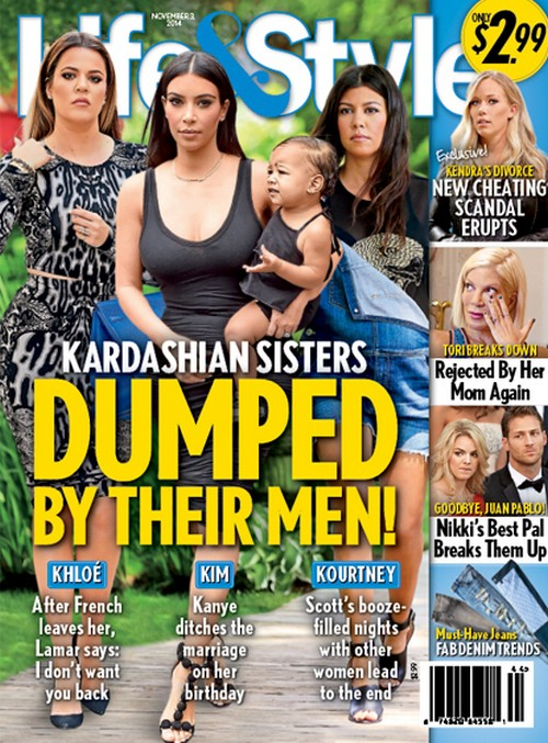 Kim Kardashian Birthday Break-Up by Kanye West: Khloe, Kourtney Dumped by Their Men (PHOTO)