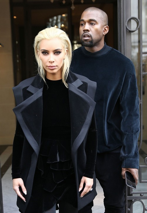 Kim Kardashian Divorce: Bare Boobs and Dyed Platinum Blonde Hair Forced by Kanye West on Wife in Fashion Disaster (NEW PHOTOS)