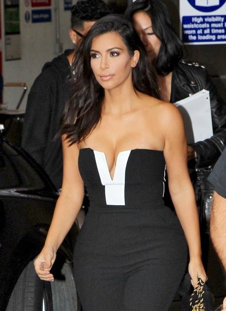 Kim Kardashian Drops By The BBC Radio 1