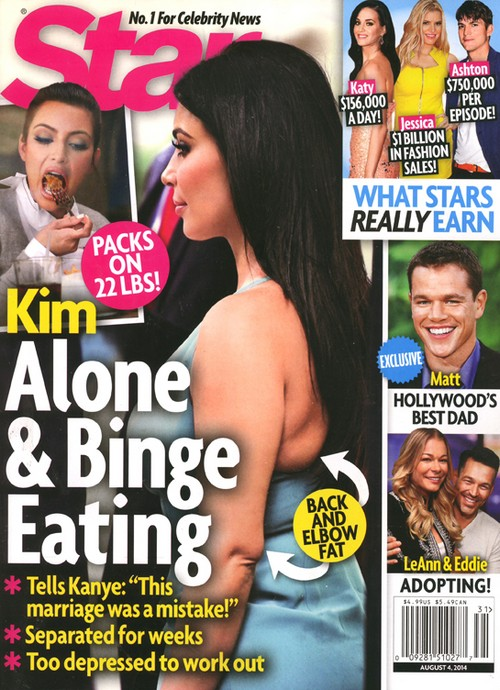 Kim Kardashian Divorce and Binge Eating Rumors: Kanye West Marriage Trouble Causes Kim To Pack On the Pounds (PHOTO)