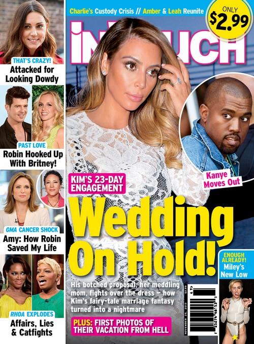 Kim Kardashian And Kanye West Living Apart, Wedding Cancelled - Report