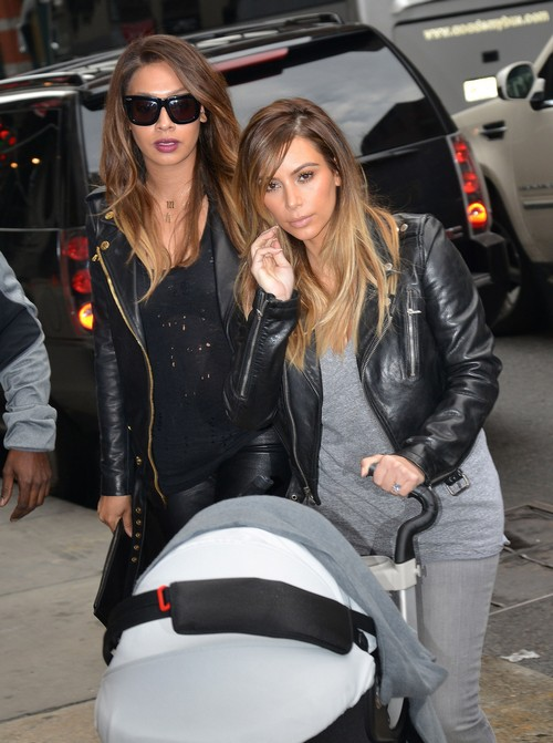Kim Kardashian and North West Out To Lunch in New York City (PHOTOS)