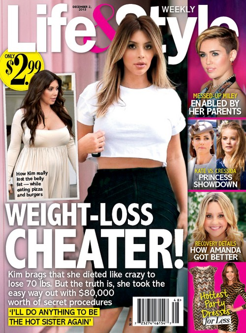 Kim Kardashian Needed $80,000 In Plastic Surgery and Liposuction to Lose Baby Weight and Fat (PHOTO)