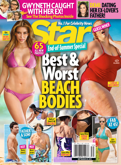 Kim Kardashian Makes The Best & Worst Celebrity Beach Bodies List -- Is She Fab or Flab? (PHOTO)