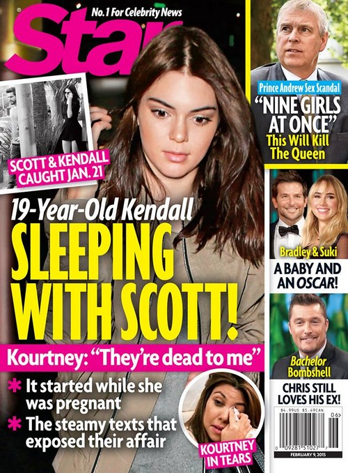 Scott Disick and Kendall Jenner Caught Cheating On Kourtney Kardashian: 19 Year-Old Kendall Sleeping With Scott (PHOTO)