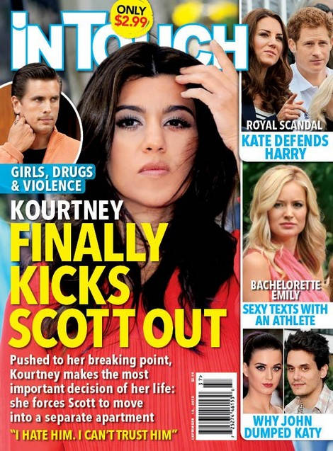 Kourtney Kardashian Throws Scott Disick Out: 'I Hate Him, I Can't Trust Him!' (Photo)