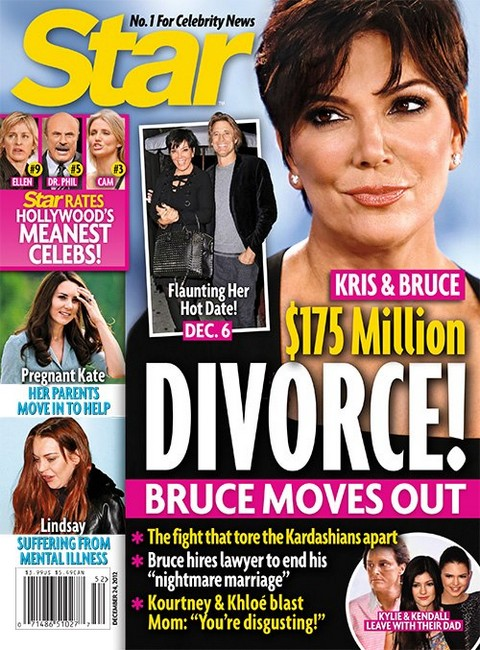 Divorce ON as Kris Jenner Flaunts New Hot Date and Bruce Jenner Walks Out With Kylie and Kendall! (Photo)
