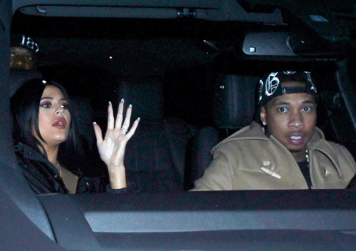 Kylie Jenner & Tyga Enjoy A Night Out Together