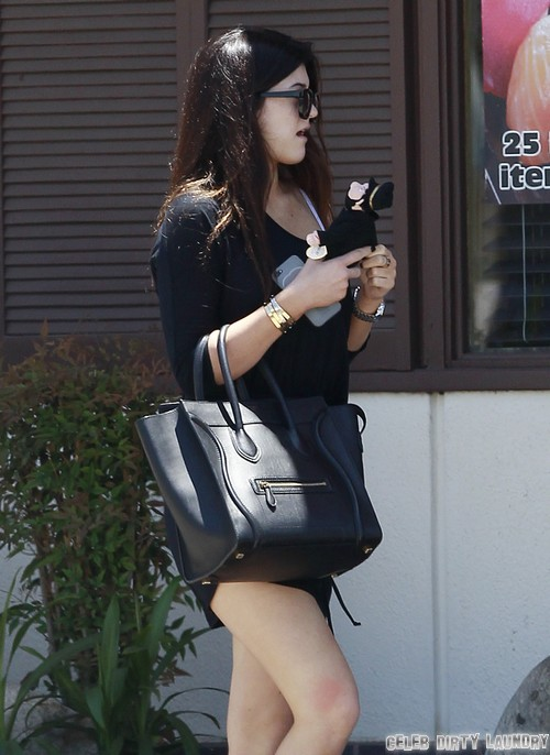 Exclusive... Kylie & Kendall Jenner Stop for Sushi