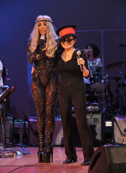 Lady Gaga & Yoko Ono Perform the WORST Rendition Of 'Give Peace A Chance' [VIDEO]