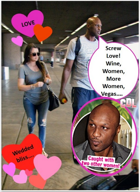 Khloe Kardashian Desperate To Save Marriage To Lamar Odom As Cheating Proof Mounts! (PHOTOS)