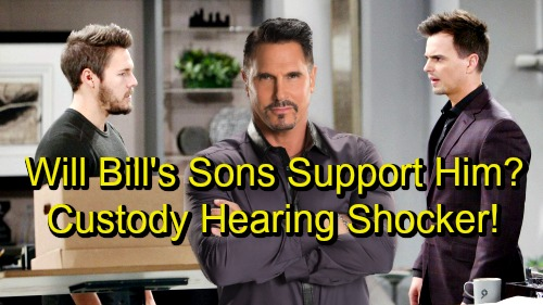 The Bold and the Beautiful Spoilers: Liam and Wyatt Debate Bill's Merits As A Father - Will They Support Him At Custody Hearing?
