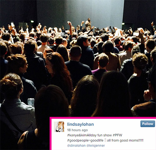 Lindsay Lohan Posts N-word On Instagram Photo While Attending Kanye West Concert In Paris - Desperate Cry For Attention?