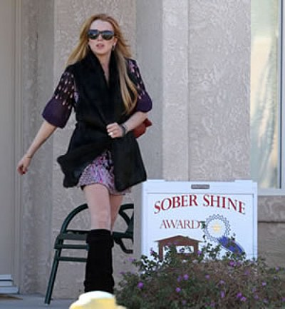 Lindsay Lohan Receives Award For Being Sober