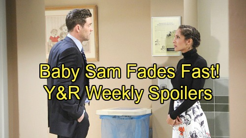 The Young and the Restless Spoilers: Week of November 27 - Hospital Heartbreak, Cane Fears the Worst as Baby Sam Fades Fast