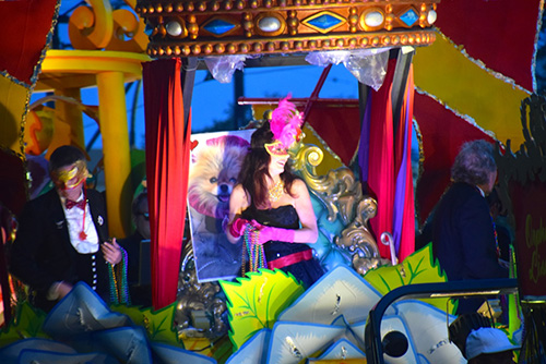 Lisa Vanderpump RHOBH Star Stuns During Krewe Of Orpheus Parade In Celebration Of Mardi Gras 2015 - CDL Exclusive (PHOTOS)