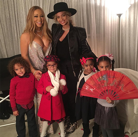 Beyonce, Blue Ivy Pose For Photo-Op With Mariah Carey: Throws Shade At Kanye West - No Play Dates For North West And Blue!