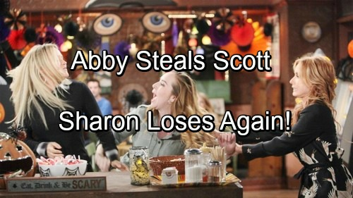 The Young and the Restless Spoilers: Sharon Needs To Watch Abby – Scott Vulnerable To Naked Heiress