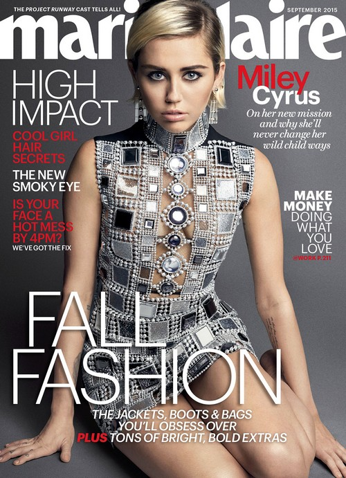 Miley Cyrus Attacks Taylor Swift In Marie Claire Interview: Disses Bad Blood Video - Calls T-Swift Poor Role Model