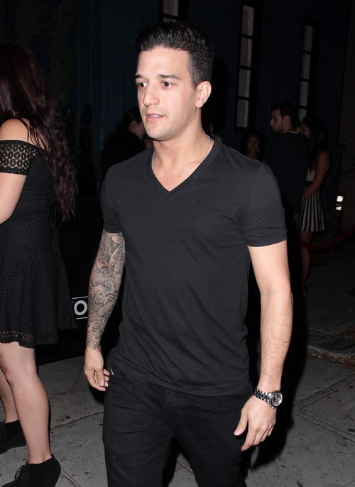 Mark Ballas Enjoys A Night Out At Hooray Henry's Nightclub