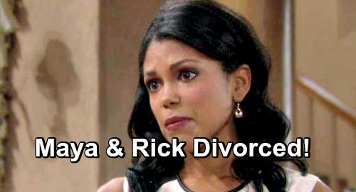 The Bold and the Beautiful Spoilers: Maya's Horrible News Rocks the Forresters – Comeback Brings Rick Divorce, Brand-New Path
