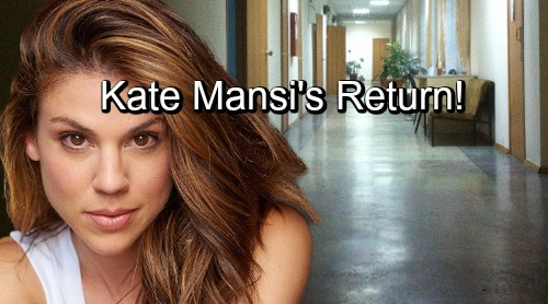 Days of Our Lives Spoilers: Kate Mansi Returns For Charlotte and Revenge November 29 - Marci Miller Exits With Abigail Locked Up