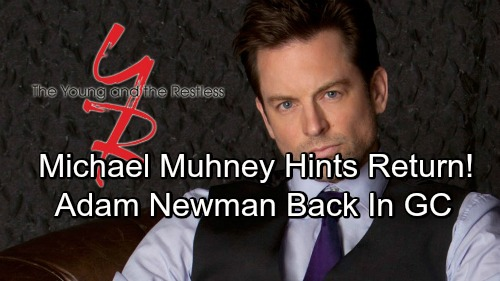 The Young and the Restless Spoilers: Michael Muhney Drops Exciting Twitter Hints – Adam Newman's Comeback Brewing?