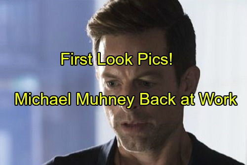 The Young and the Restless Spoilers: First Look - Michael Muhney Back to Work in Emotional Scenes