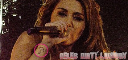 Miley Cyrus' Sixth Tattoo Is An Anchor (Photo)