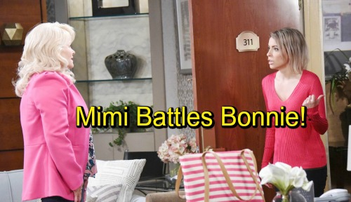 Days of Our Lives Spoilers: Mimi and Bonnie Clash - Mimi Refuses to Keep Bonnie's Secret