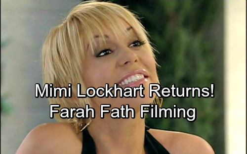 Days of Our Lives Spoilers: Mimi Lockhart Back to DOOL – Farah Fath Filming New Scenes