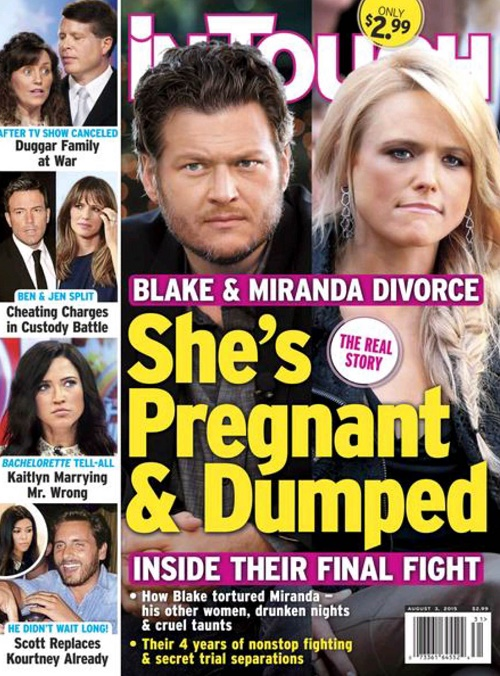 Miranda Lambert Pregnant With Blake Shelton's Baby: Country Music Singer To Be A Divorced Single Mom After Nasty Split! (PHOTO)
