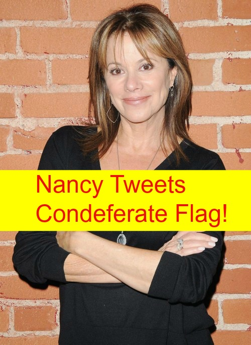 General Hospital (GH) Spoilers: Nancy Lee Grahn Tweets Confederate Flag Photo - Attempt To Prove She Isn't Racist?