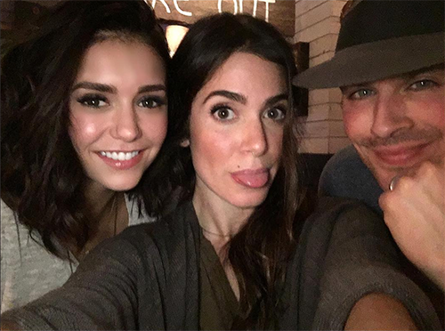 Nina Dobrev Poses With Nikki Reed And Ian Somerhalder: 'The Vampire Diaries' Stars Prove No Feud Exists Between Them?