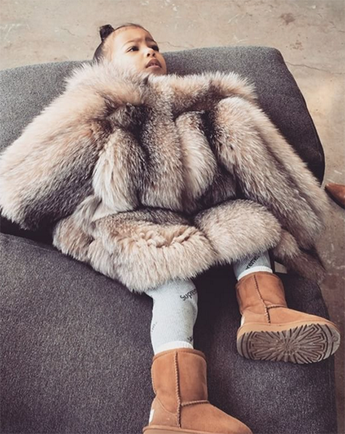 Kim Kardashian Attacked By PETA Once More: North West's Fur Outfit Sparks Controversy - Kanye West Snubs Animal Rights Group