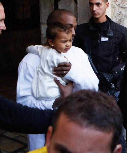 Kim Kardashian and Kanye West Have North West Baptized in Jerusalem, Israel (NEW PHOTOS)