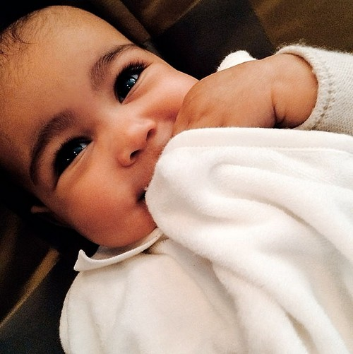 Kim Kardashian Shows Off Smiling North West - Look at Her Smile, See New Photos
