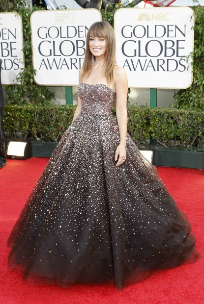 Olivia Wilde Arriving At The 68th Annual Golden Globe Awards