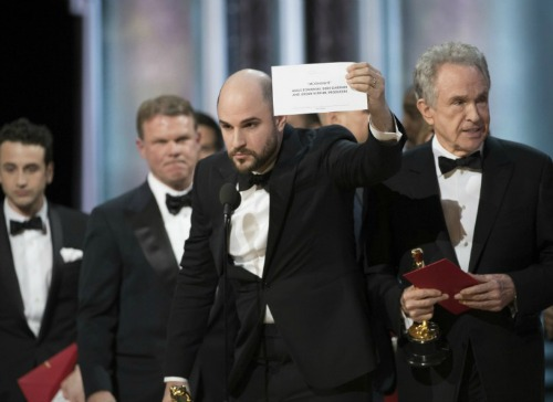 Moonlight Wins Best Picture Oscar But La La Land Called First - Academy Awards Mistake Leads To Fiasco and Confusion