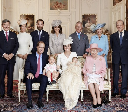 Kate Middleton Releases Official Princess Charlotte Christening Photos – Carole Middleton Delighted to be With Royals