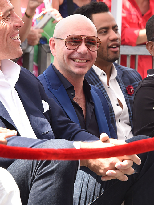 Pitbull Honored With Hollywood Walk Of Fame Star: Dedicates His Star To The Latino Community (PHOTOS)