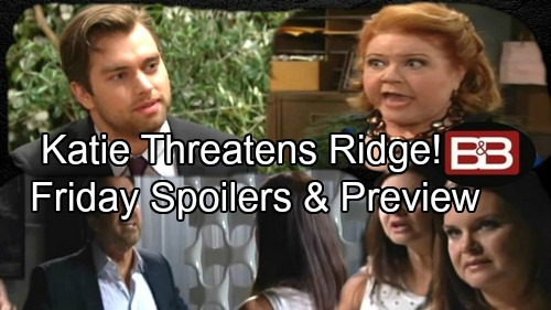 The Bold and the Beautiful Spoilers: Katie and Ridge Face Off Over Betrayal – Shirley Sabotages Thomas and Sally's Romance