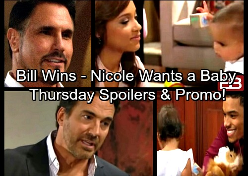 The Bold and the Beautiful Spoilers: Brooke's Choice Thrills Bill – Ridge Loses At Love Again – Nicole Longs for a Baby