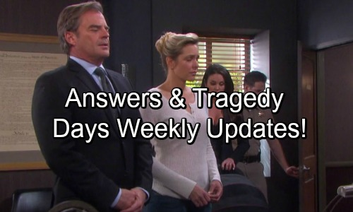 Days of Our Lives Spoilers: Week of June 12 Updates - Steamy Shockers, Deadly Faceoffs and Marriage Mayhem