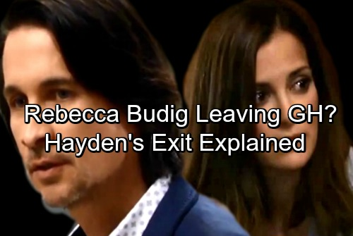 General Hospital Spoilers: Rebecca Budig Departure Buzz, Hayden's Exit Crushes Finn – Tragic Miscarriage or Death in Childbirth?